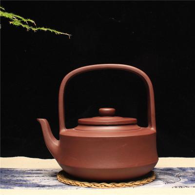 宜興紫砂壺泡茶壺單壺 正品原礦紫砂茶壺 提壁壺 大毫升提梁茶具
