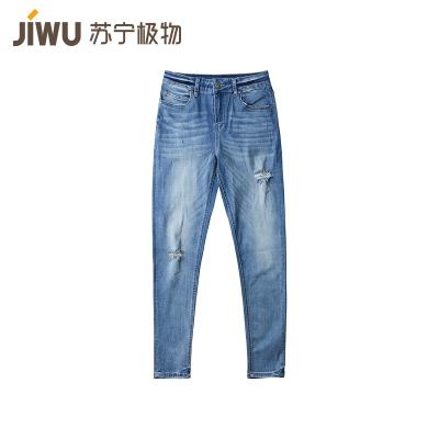 JIWU брэндийн эмэгтэй jeans-н өмд уранхай загварын гүн цэнхэр 27