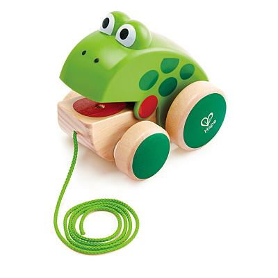 德国(Hape)拖拉青蛙E0361 儿童拖拉玩具婴幼儿玩具1-3-6岁爬行走路学步木制手拉玩具拖拉青蛙小孩新年 1岁+