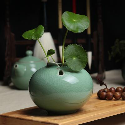 陶瓷 花瓶 家居 裝飾品 擺件 客廳 創意 干花 插花 容器 簡約 綠蘿 水培 小花瓶 黑色旗袍大哥梅鏤空款