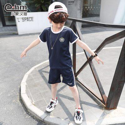 童装男童夏装儿童套装新款短袖短裤中大童运动洋气潮