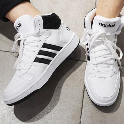 Adidas阿迪达斯男鞋2019秋季新款皮面高帮运动鞋休闲鞋板鞋BB7208