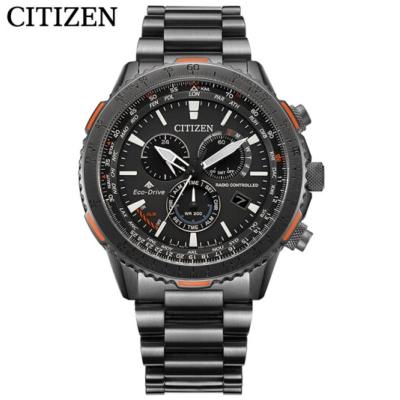 国行 西铁城(CITIZEN)手表光动能多局电波大表盘深层防水运动男表CB5007-51H