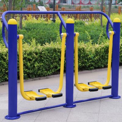 室外健身器材戶外運動路徑設備社區老年人廣場公園小區漫步機 膨脹螺絲雙人漫步機(二)114鋼管