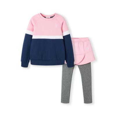 巴拉巴拉童装女童洋气套装加绒秋冬儿童两件套女小童宝宝运动装潮