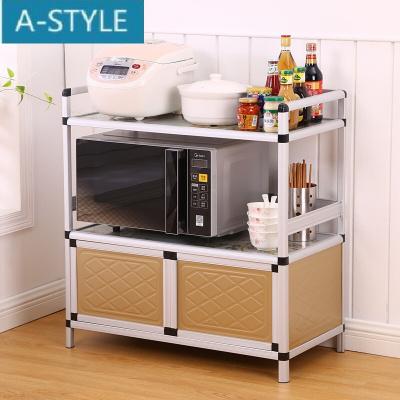 A-STYLE微波炉柜碗柜厨房橱柜简易柜子储物柜餐边柜收纳置物柜茶水柜组装如需加层请联系客服双