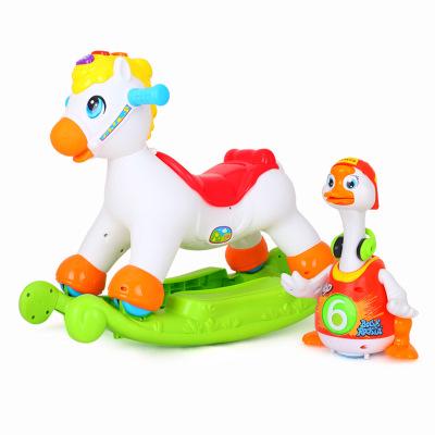 兒童音樂小木馬搖搖馬/+搖擺鵝 828 益智爬行玩具/兒童音樂唱歌跳舞鵝 1-3歲/顏色隨機