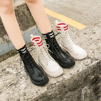 蔻若薇馬丁靴女英倫風薄款2020新款秋季機車百搭帥氣透氣厚底短靴子