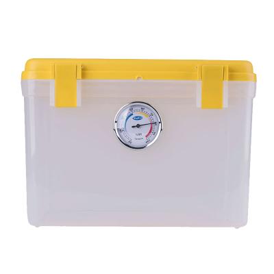 卡赛(KAssA)KS-204 单反相机防潮箱/镜头收纳箱/干燥箱 卡扣式简易锁防潮箱 带吸湿卡 黄色