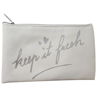 馥蕾詩(FRESH) 白色銀字皮質化妝包