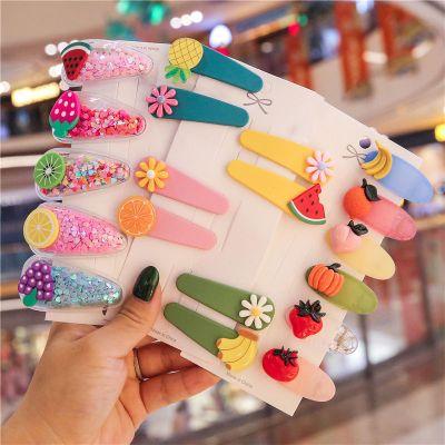 韓國少女兒童發夾劉海夾流沙水果發卡BB夾網紅泫雅風頭飾發飾邊夾
