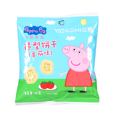 小猪佩奇PeppaPig造型饼干番茄味18克宝宝儿童零食辅食