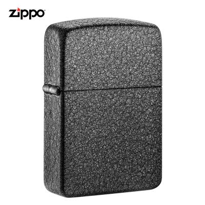 zippo打火机美国原装ZIPPO打火机红复刻黑裂漆之宝打火机28582-043433