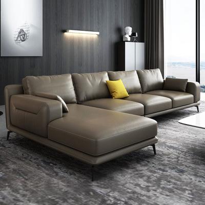 北欧沙发 真皮沙发 进口真皮实木木质沙发组合 现代简约客厅整装头层牛皮沙发 意式转角大小户型家具 可定制