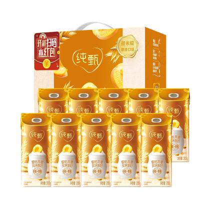 (7月產)純甄風味酸牛乳黃桃燕麥味康美笑臉包200G×10包(禮盒裝)