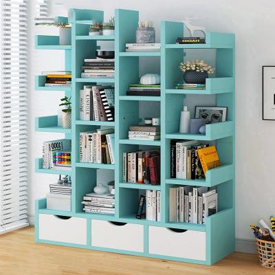 古达书架落地多层简易置物架学生简约家用收纳架类客厅创意艺术书柜子