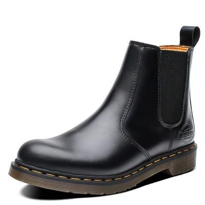 Dickies靴子秋冬季新款男士切爾西靴男英倫短靴真皮高幫情侶馬丁靴194M50LXS56