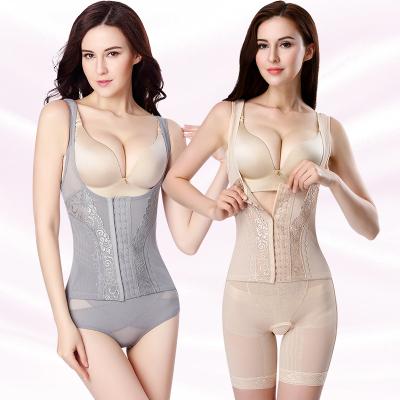 排扣加強塑身衣 連體緊身衣 女塑身內衣塑形內衣服內衣束身衣產后束身衣