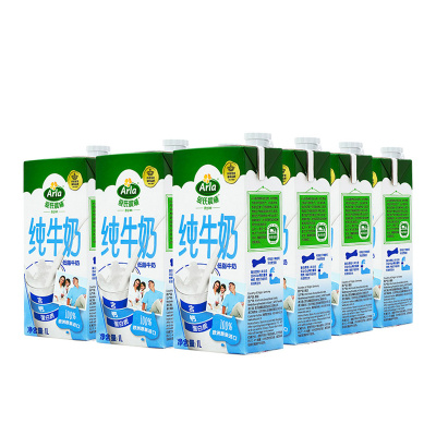 Arla愛氏晨曦 低脂純牛奶1L*12盒整箱 德國進口