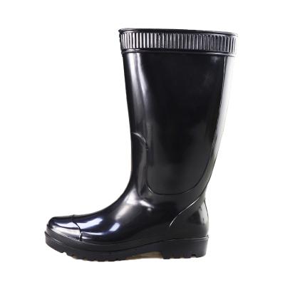双星长筒雨靴男款皮口里PVC雨鞋工作鞋套脚功能防水防滑耐磨橡胶底高帮DS1160