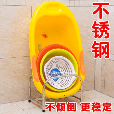洗臉盆架子落地式不銹鋼廁所廚房浴室洗手間衛生間置物架收納盆架