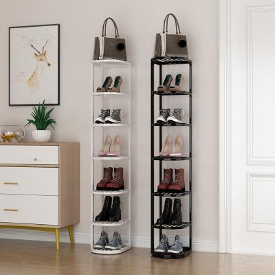 鞋架窄小簡易口迷你鞋架家用閃電客室內好看小型多層單排鞋架子小號放