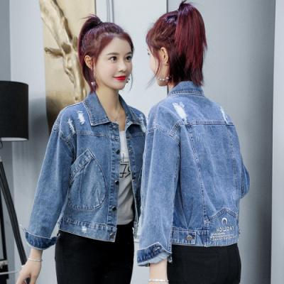 名麗斯牛仔外套女士夾克2020春秋季新款女裝韓版洋氣百搭網紅流行上衣
