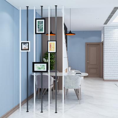 簡約現代樓梯扶手室內創意閣樓別墅圍欄閃電客防護欄桿北歐鐵藝家用 I型屏風隔斷(每米)