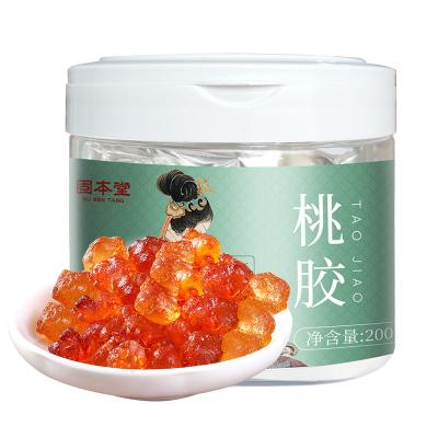 固本堂桃膠200g/罐裝野生食用桃花淚可搭配雪蓮子皂角米雪燕