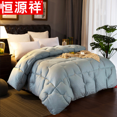 恒源祥家纺衍缝压花冬被冬季床上用品加厚保暖被子1.8米冬季春秋被褥双人被芯