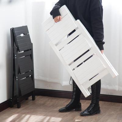 蘇寧放心購梯子家用折疊梯凳人字梯實木二三四步梯椅凳花架室內登高爬小梯子A-STYLE