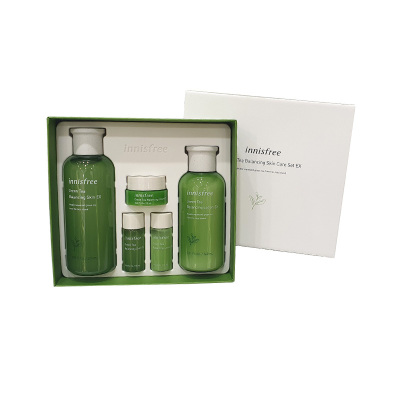 Innisfree 悅詩風吟 綠茶精萃 平衡保濕 水乳兩件套裝 凈徹肌膚 面部護膚套裝禮盒