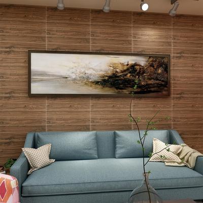 闪电客3d立体墙贴仿木纹壁纸泡沫软包墙纸自粘卧室温馨装饰贴纸
