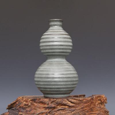 宋 官窯 灰青釉 玄紋 葫蘆瓶 古董瓷器古玩古瓷器 老物件收藏