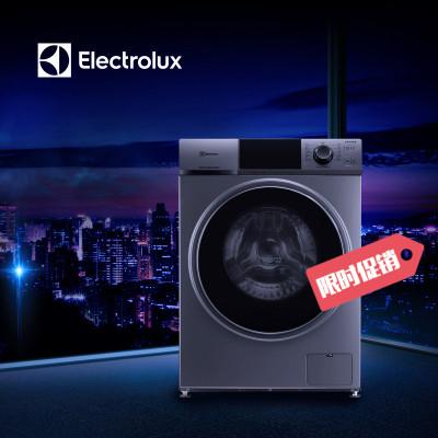 【99新】伊萊克斯(ELECTROLUX) EWF14102JB 10.5公斤變頻節能大容量滾筒洗衣機(鈦晶棕)