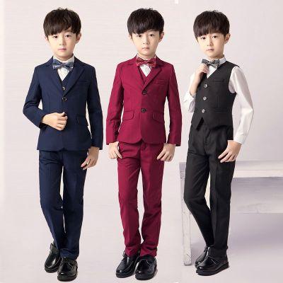 儿童西装套装2019春季新款秋冬童装小花童演出韩版西服男童礼服 威珺