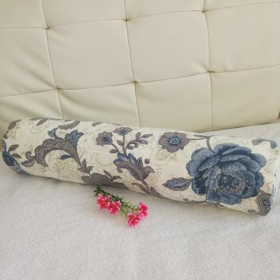 圆柱体长条沙发抱枕套糖果形靠垫床头上靠背不含芯靠枕全纯棉定做 花纱 20*100cm(只是枕套)