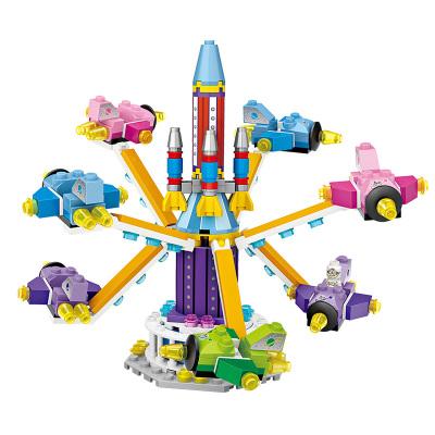 LOZ俐智迷你游乐场小颗粒积木儿童玩具男女孩6岁旋转飞机1719