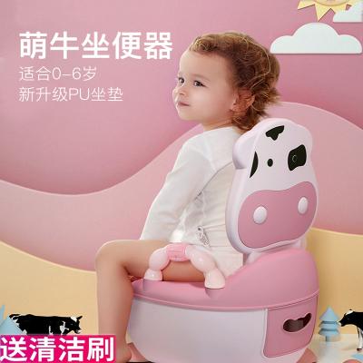 兒童馬桶坐便器男孩抽屜式便盆女寶寶1-6歲卡通嬰兒座便器小孩尿盆尿桶智扣【經典軟墊款】櫻花粉(送刷子)1-4歲適用