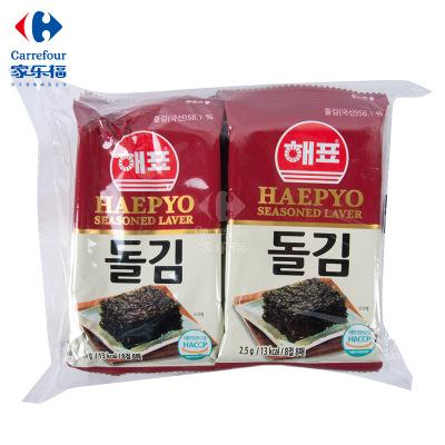 【家乐?!亢E?HAEPYO)传统海苔25g袋装 韩国进口零食海味即食