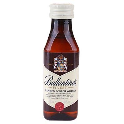 百龄坛(Ballantine's)洋酒 特醇苏格兰威士忌 50ml