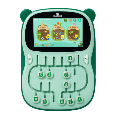 優彼(ubbie)邏輯故事思維訓練機小熊優比益智早教點讀機兒童平板電腦嬰幼兒小孩故事機學習機 淺草綠