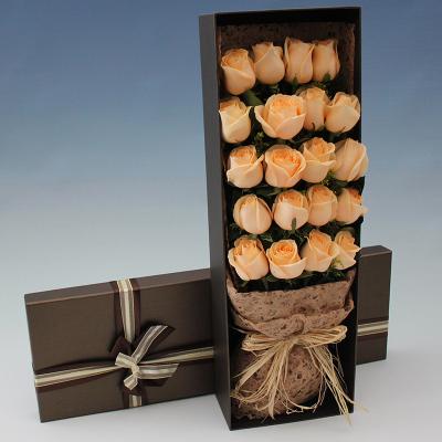 五二零 鮮花速遞全國 19朵香檳玫瑰禮盒禮物生日花束預定 太原蘭州南昌汕頭泉州開封長沙同城花店送花上門
