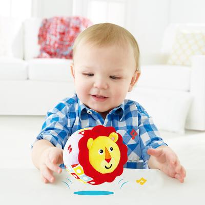 費雪(Fisher-Price)音樂蹦蹦球嬰兒玩具0-1歲男女孩跳跳球3-6個月新生兒音樂玩具 獅子音樂蹦蹦球F0859