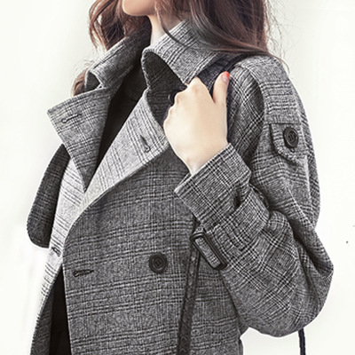 芷臻zhizhen風衣女裝chic格子2020春秋季新款韓版中長款lulu外套