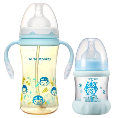 優優馬騮新生兒奶瓶套裝組合MS2138藍色