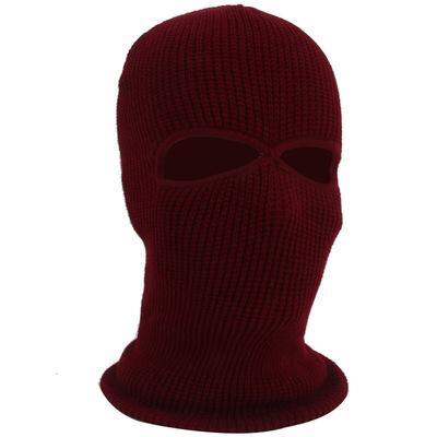 冬季防风保暖头套防风寒蒙面帽子男女针织面罩电动摩托车露眼露嘴