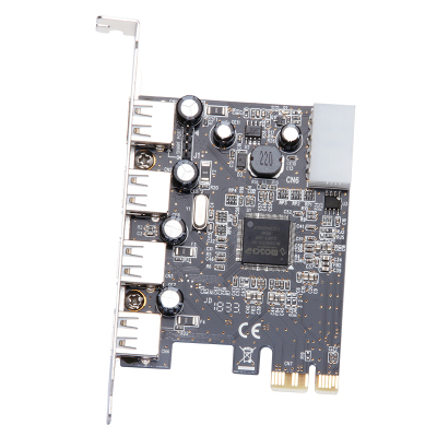 魔羯(MOGE)PCIEx1转4口USB2.0扩展卡 MC2028 MOSCHIP芯片