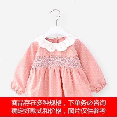 女孩19秋季围兜衣幼儿园儿童吃饭反穿衣宝宝防水罩衣