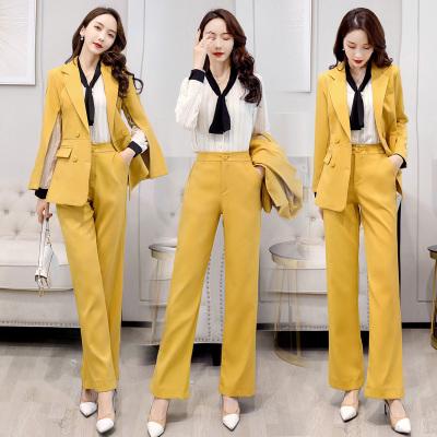 愫惠君2020春季新款時尚套裝長袖優雅氣質潮流職業套裝H-JNFGN218